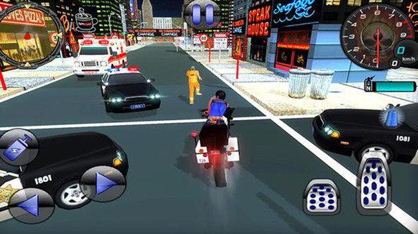 警察自行车警察城游戏