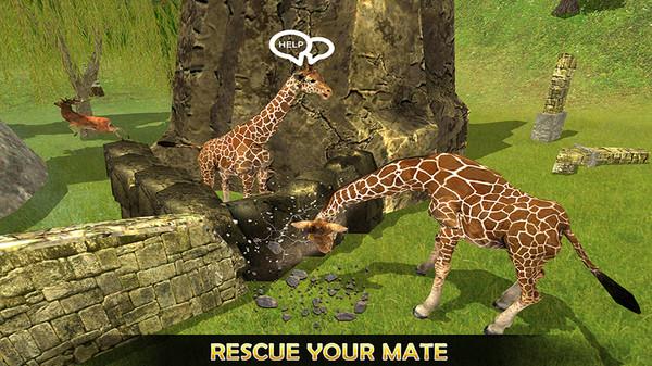 长颈鹿丛林生活模拟器安卓中文版1.0截图1