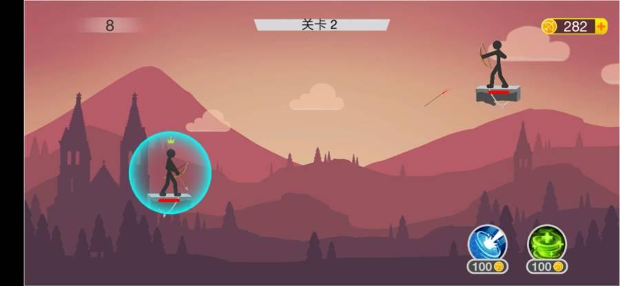 火柴人战争射手破解版无限金币v3.0.1截图2