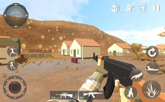 像素移动射击游戏