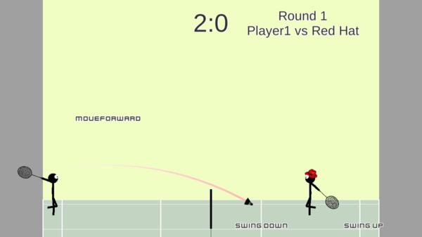 火柴人打羽毛球游戏1.0截图0