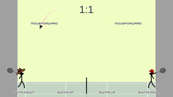 火柴人打羽毛球游戏1.0截图1