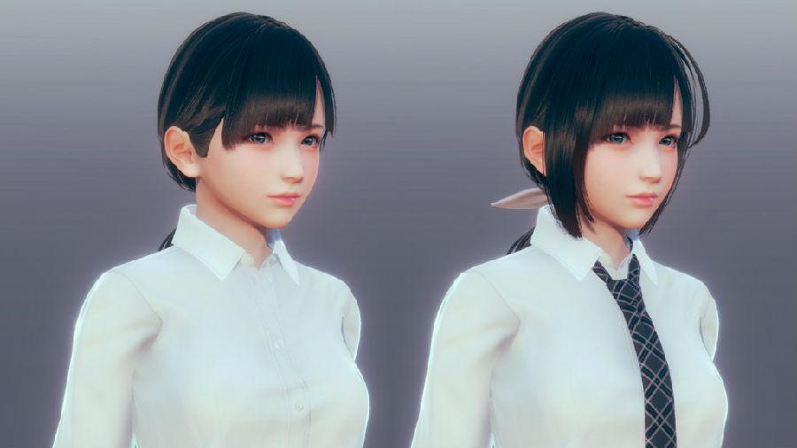 AI少女110种发型接片mod