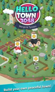 你好小镇2048无限金币钻石版1.03最新版截图0